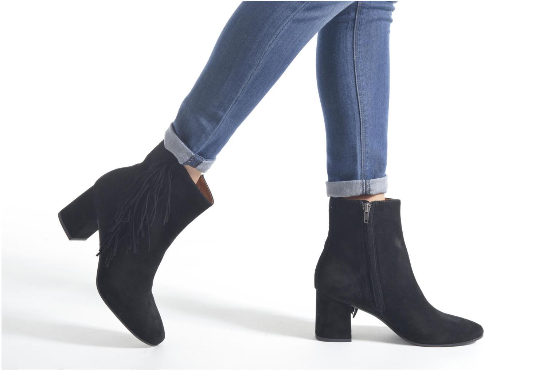 Bottines et boots Frye Jodi Fringe Short Noir vue bas / vue portée sac