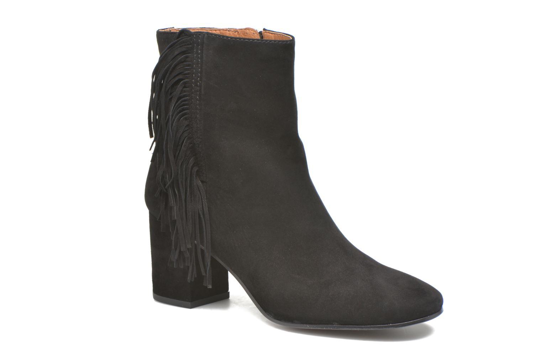 Bottines et boots Frye Jodi Fringe Short Noir vue détail/paire