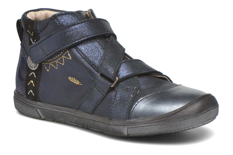 Velcro shoes Catimini Monarque Blue detailed view/ Pair view