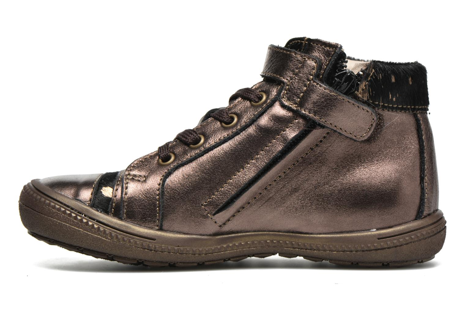 Trainers Catimini Abeille Bronze and Gold front view