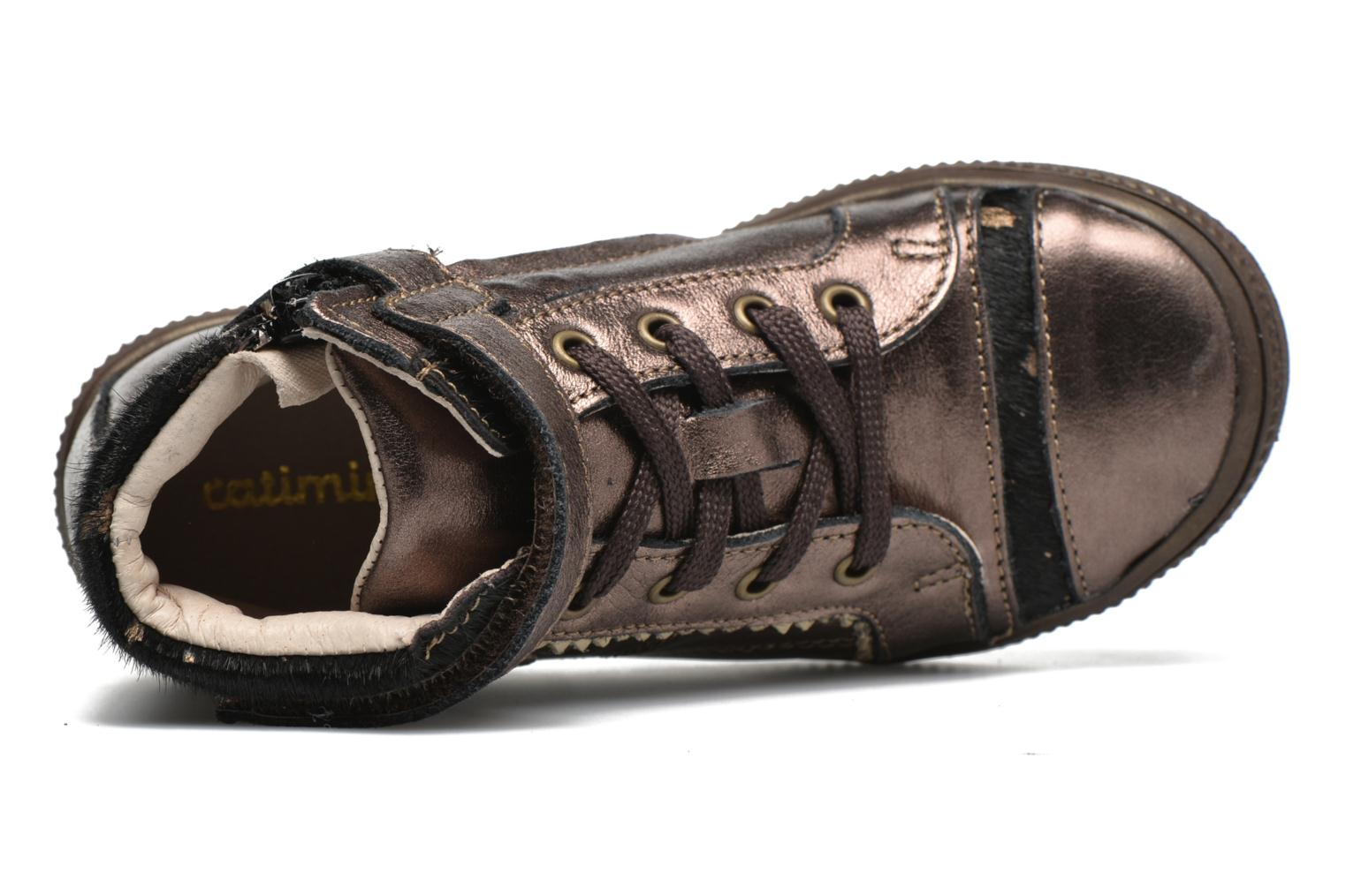Trainers Catimini Abeille Bronze and Gold view from the left
