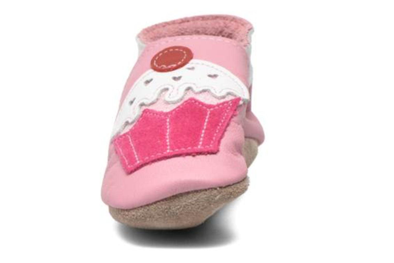 Tofflor Inch Blue Little Cupcake Rosa bild av skorna på