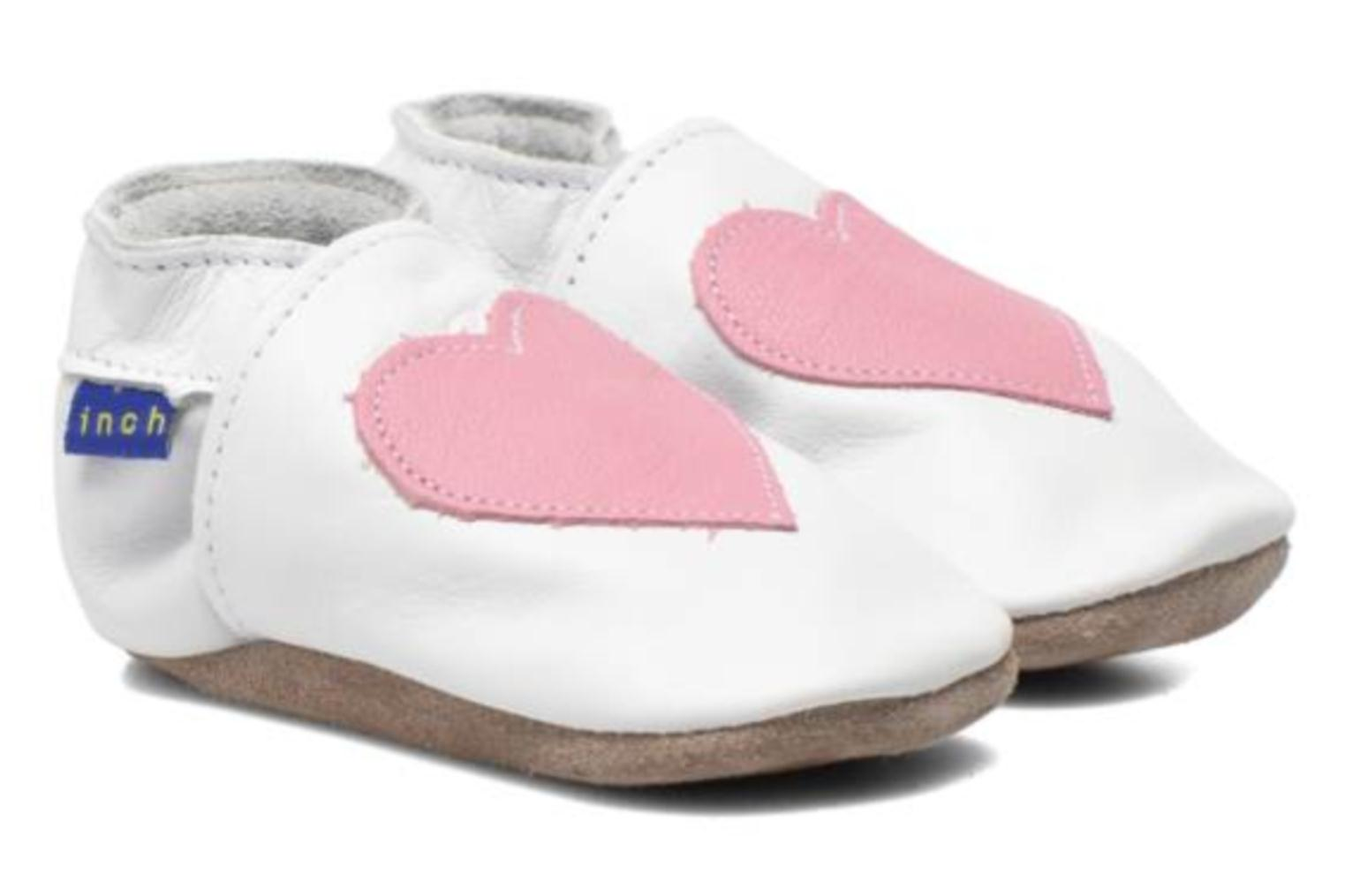 Chaussons Inch Blue Love Blanc vue 3/4