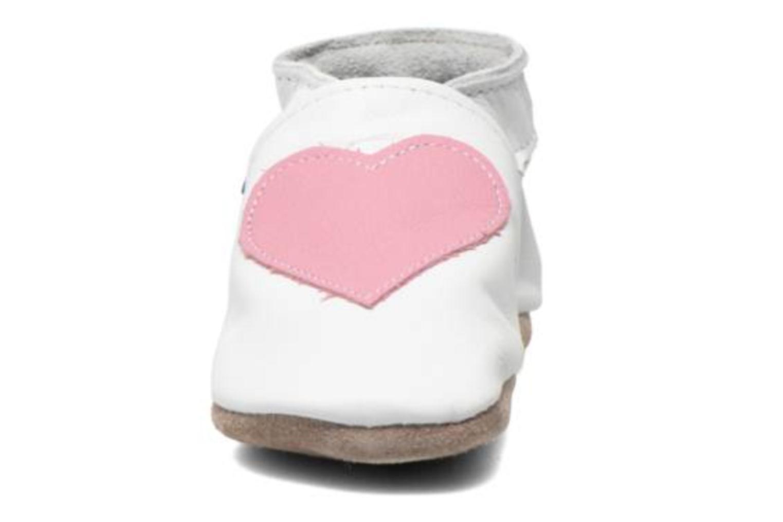 Chaussons Inch Blue Love Blanc vue portées chaussures