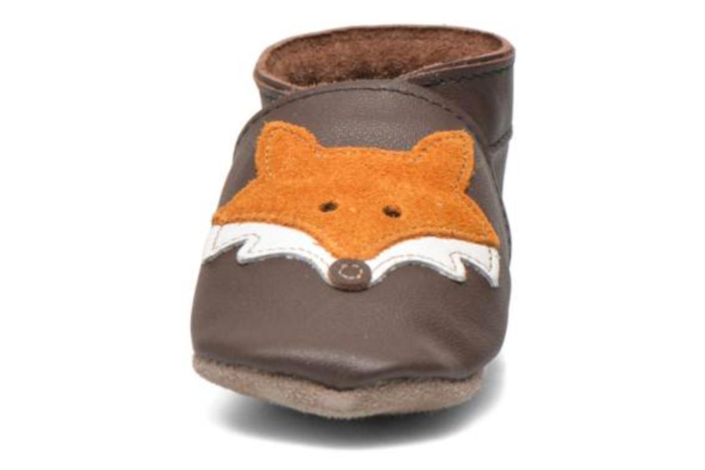 Hausschuhe Inch Blue Mr Fox braun schuhe getragen
