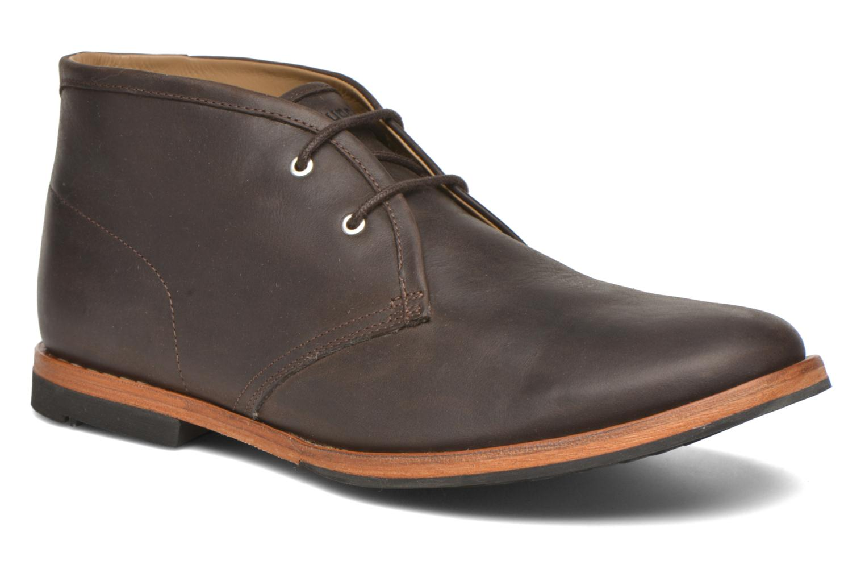 Chaussures à lacets Hush Puppies Kieran Charge Marron vue détail/paire