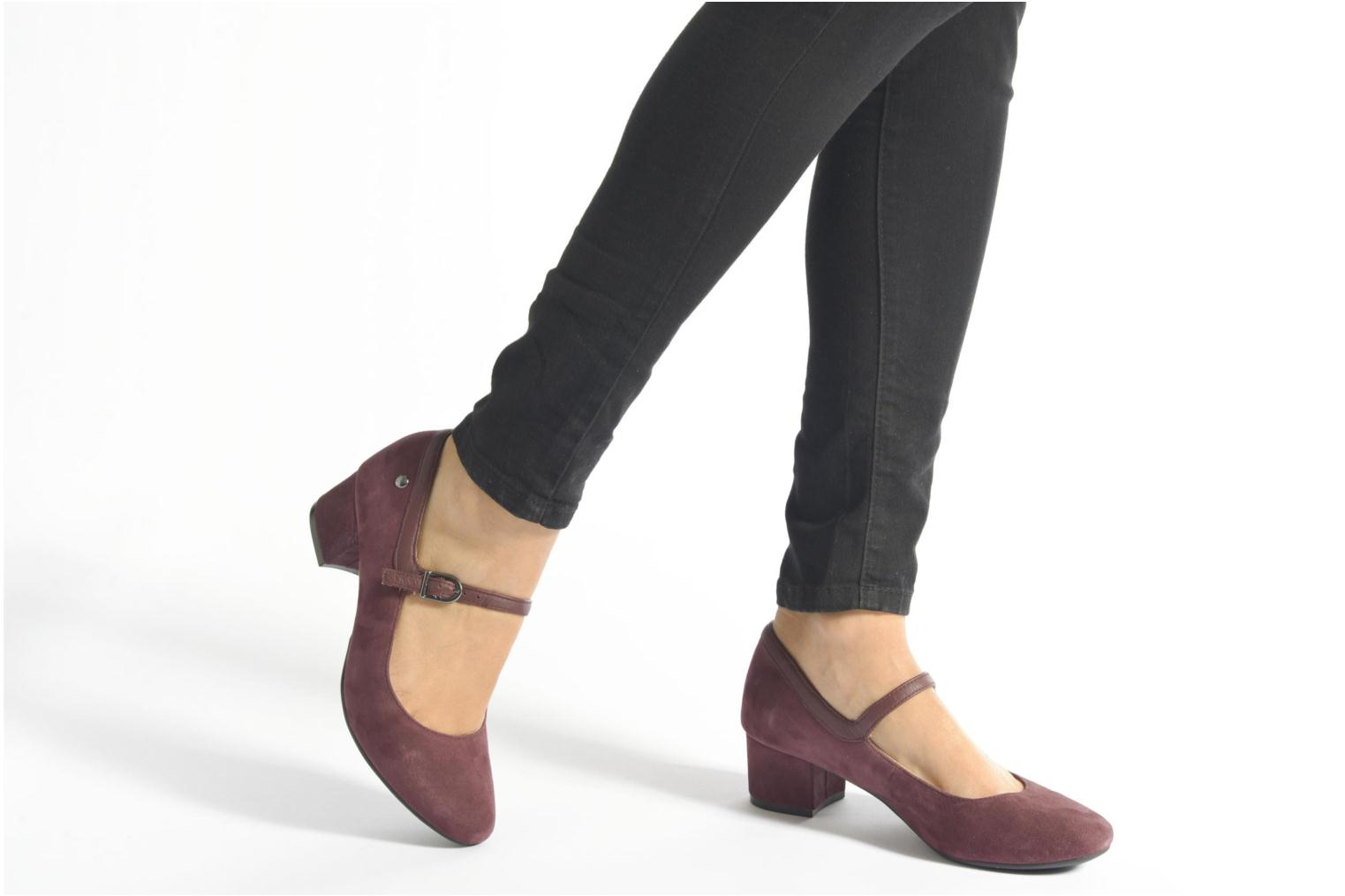 High heels Hush Puppies Nara Discover Burgundy view from underneath / model view