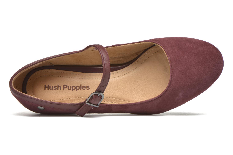 Zapatos de tacón Hush Puppies Nara Discover Vino vista lateral izquierda