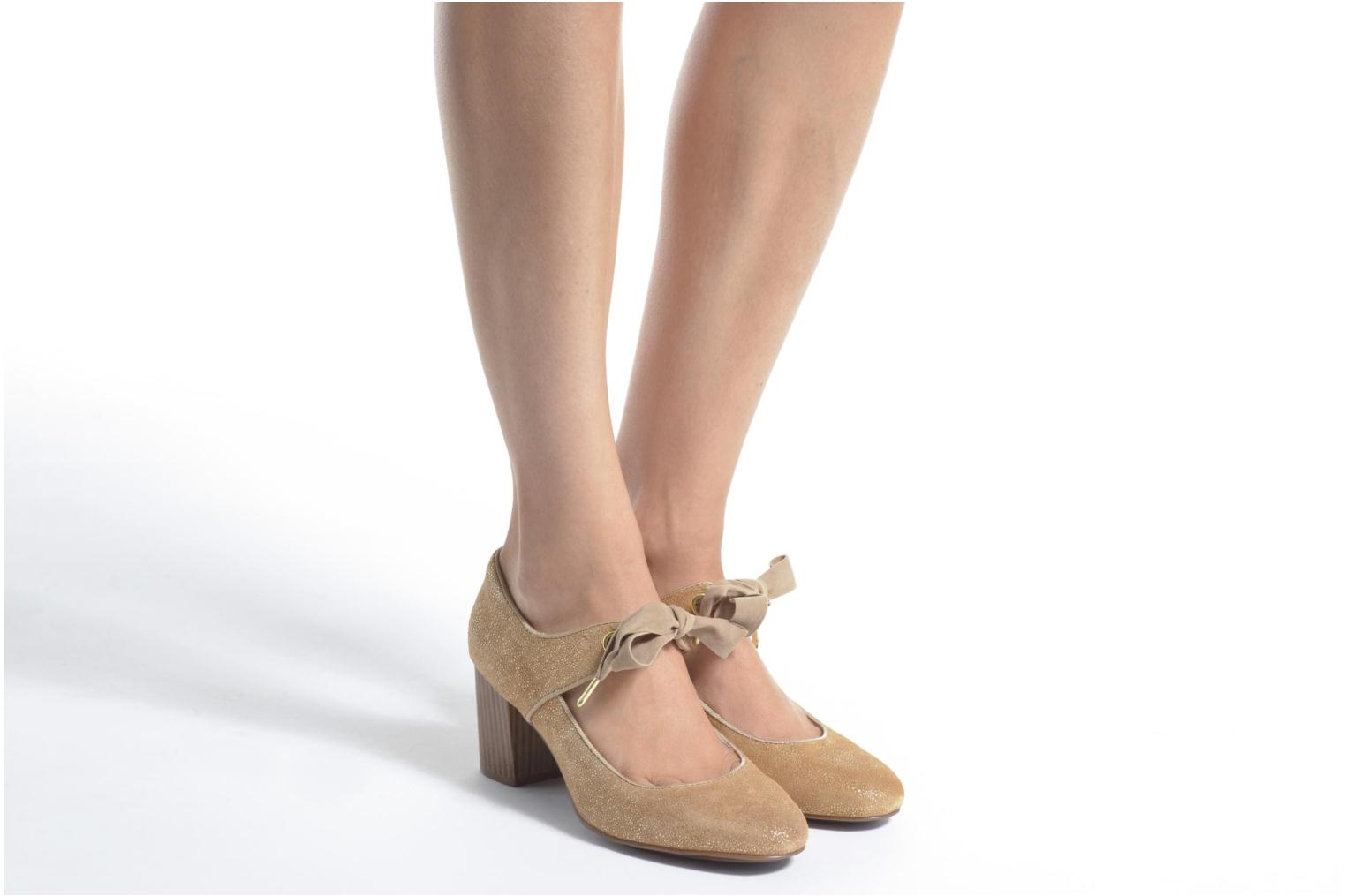 High heels Hush Puppies Margot Langdon Bronze and Gold view from underneath / model view