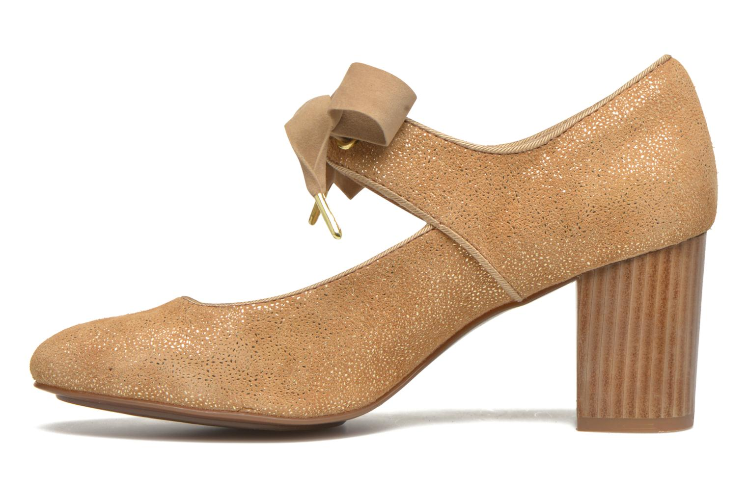 High heels Hush Puppies Margot Langdon Bronze and Gold front view