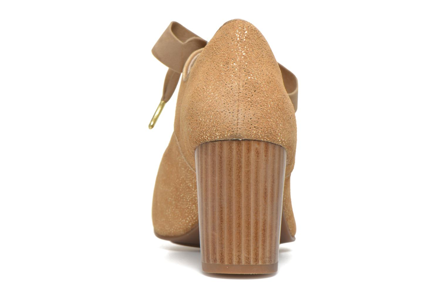 High heels Hush Puppies Margot Langdon Bronze and Gold view from the right
