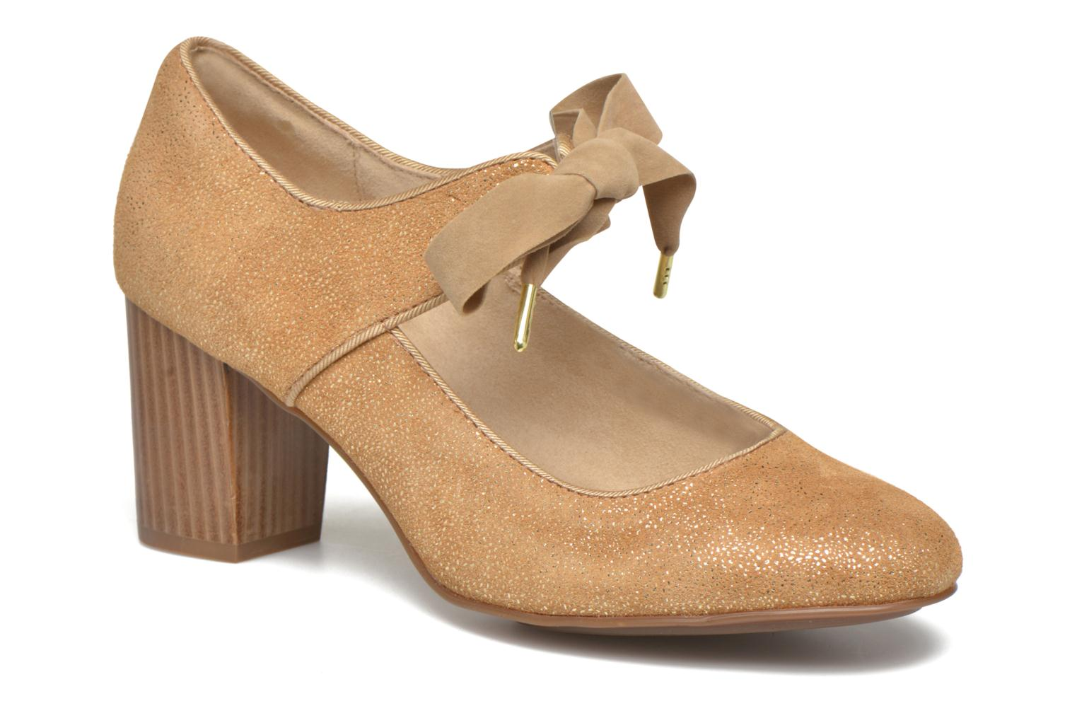 High heels Hush Puppies Margot Langdon Bronze and Gold detailed view/ Pair view