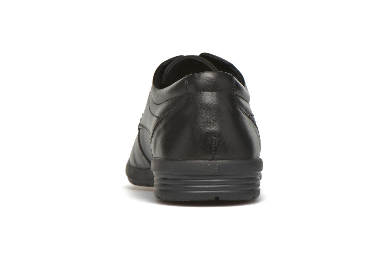 Zapatos con cordones Hush Puppies Sam Negro vista lateral derecha