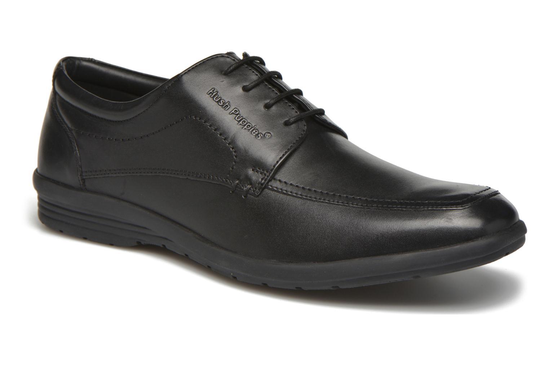 Zapatos con cordones Hush Puppies Sam Negro vista de detalle / par