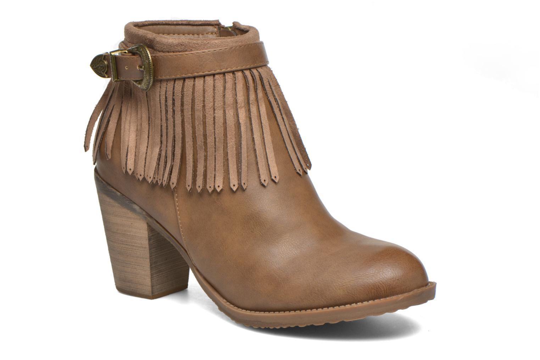 Ankelstøvler Refresh Priscilla 62231 Brun detaljeret billede af skoene