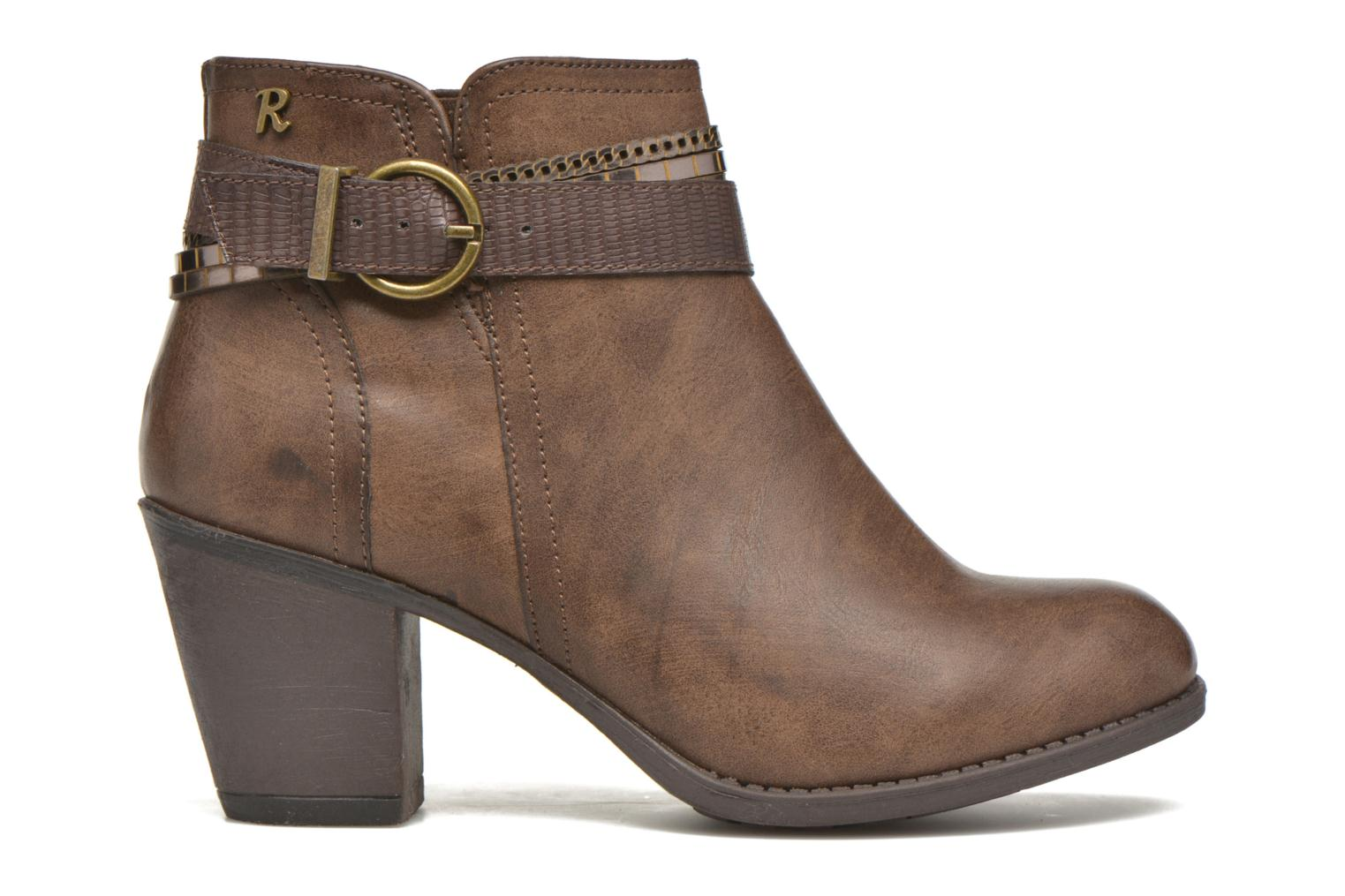 Ankle boots Refresh Jeanne 63111 Brown back view