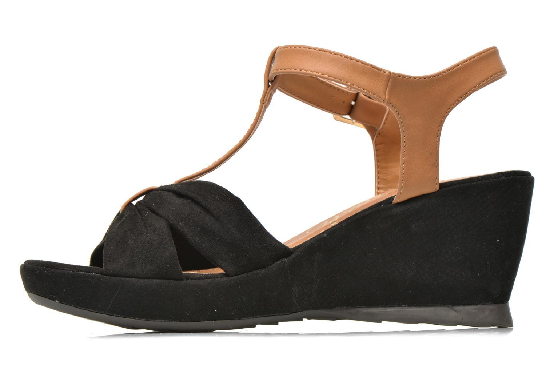 Sandales et nu-pieds Refresh Cassida-61790 Noir vue face