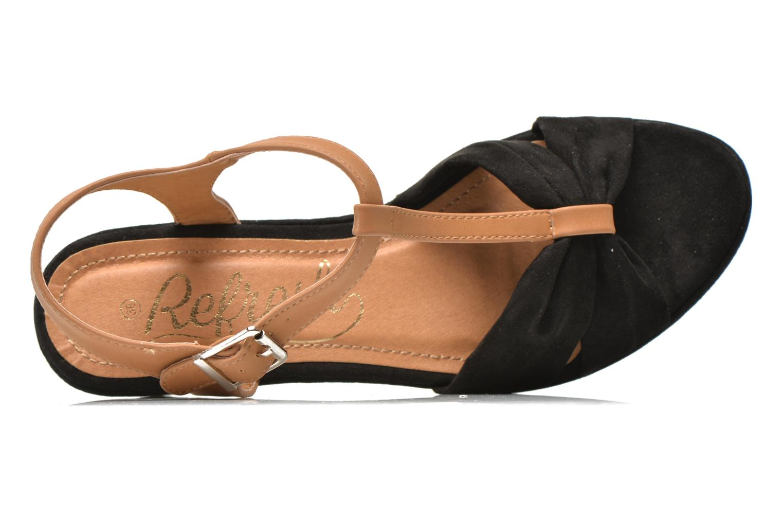 Sandales et nu-pieds Refresh Cassida-61790 Noir vue gauche