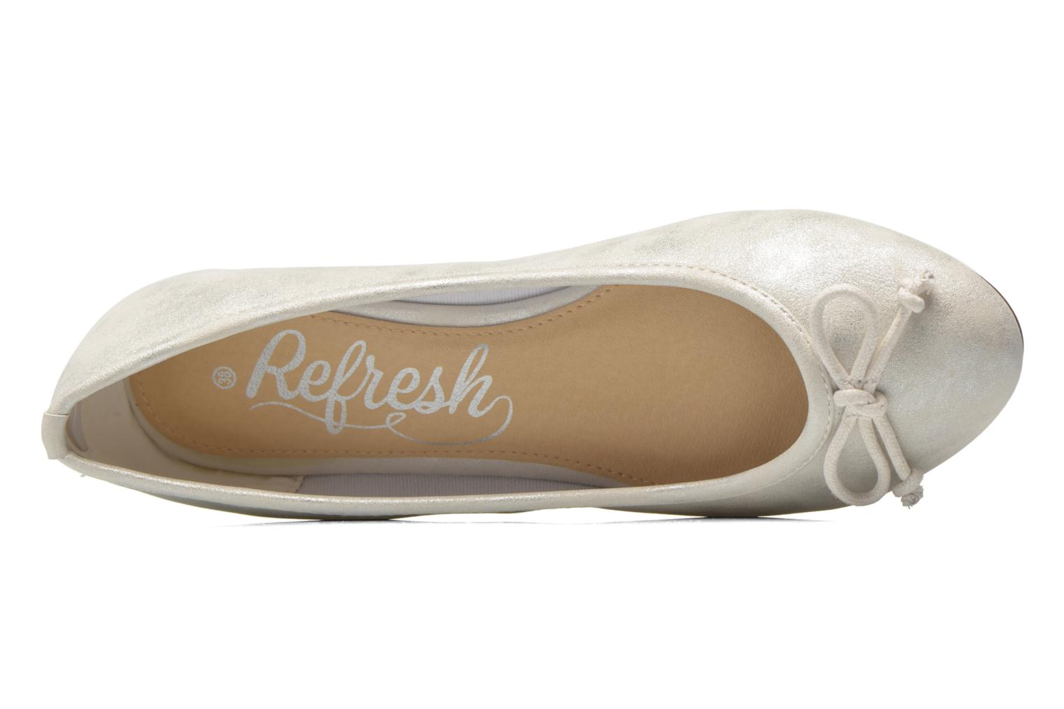 Ballet pumps Refresh Pirinia-62024 Silver view from the left
