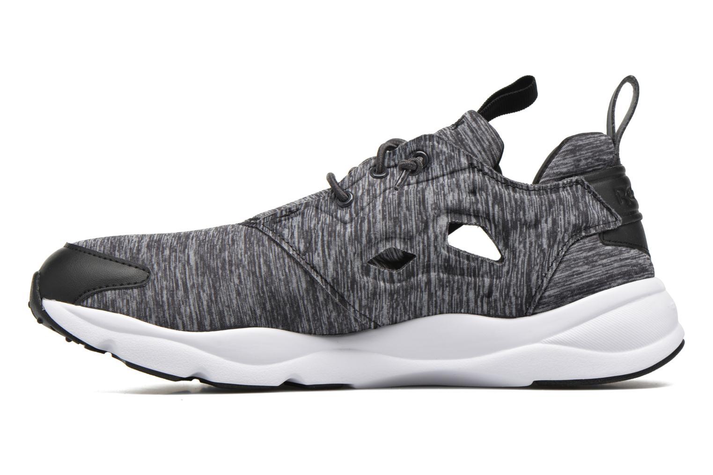 Sneaker Reebok Furylite Jersey schwarz ansicht von vorne