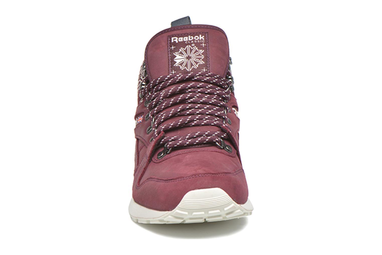 Baskets Reebok Gl 6000 Mid Sg Bordeaux vue portées chaussures