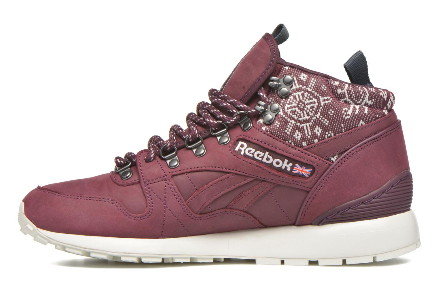 Baskets Reebok Gl 6000 Mid Sg Bordeaux vue face