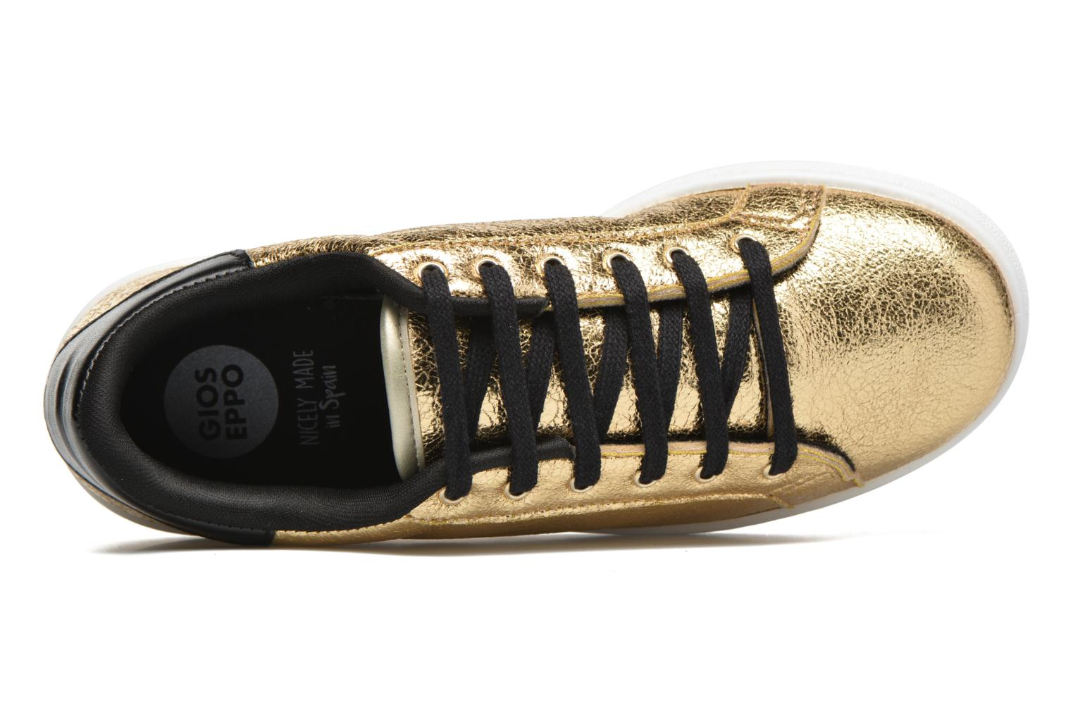 Trainers Gioseppo Technic Bronze and Gold view from the left