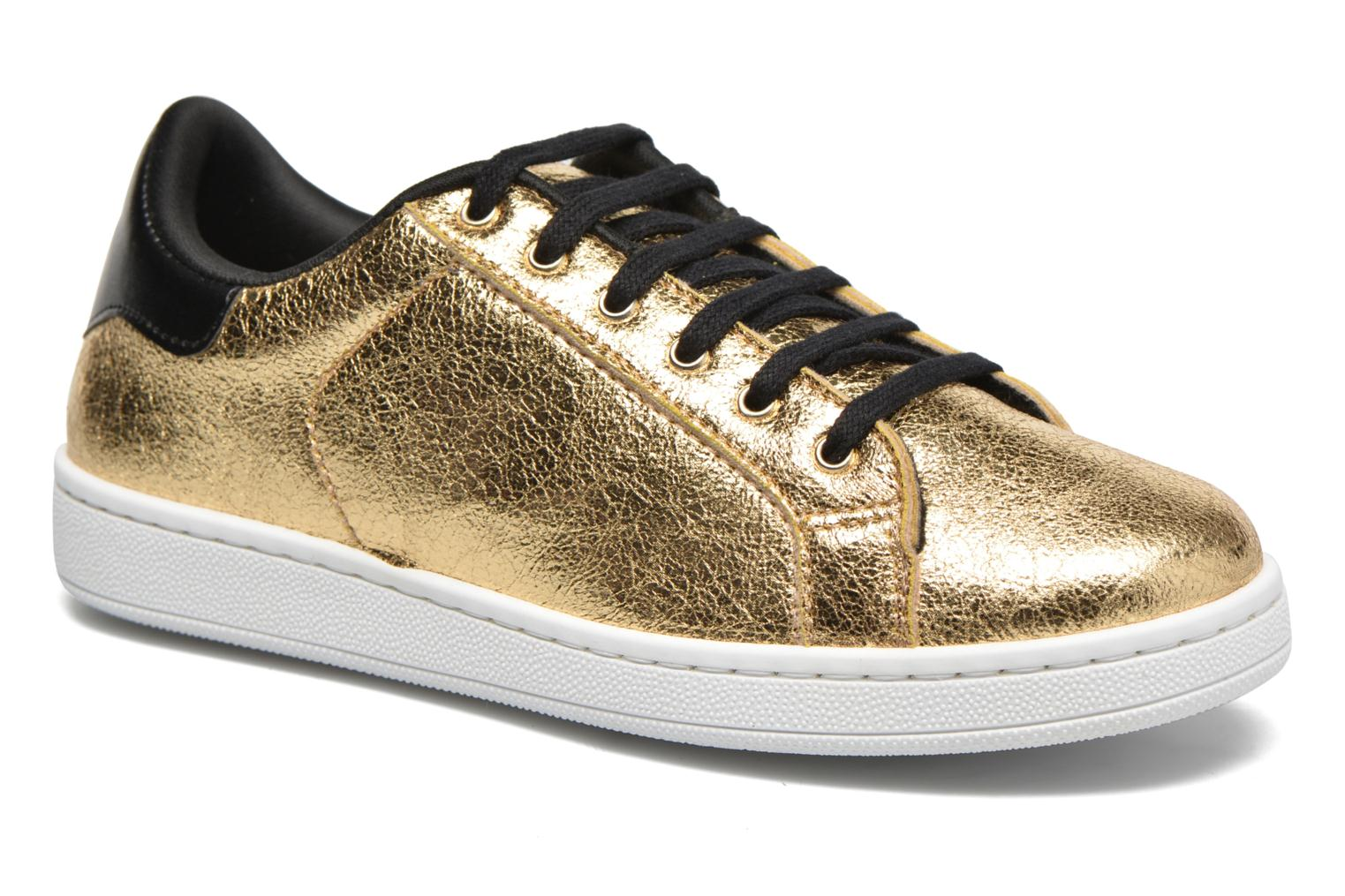 Trainers Gioseppo Technic Bronze and Gold detailed view/ Pair view