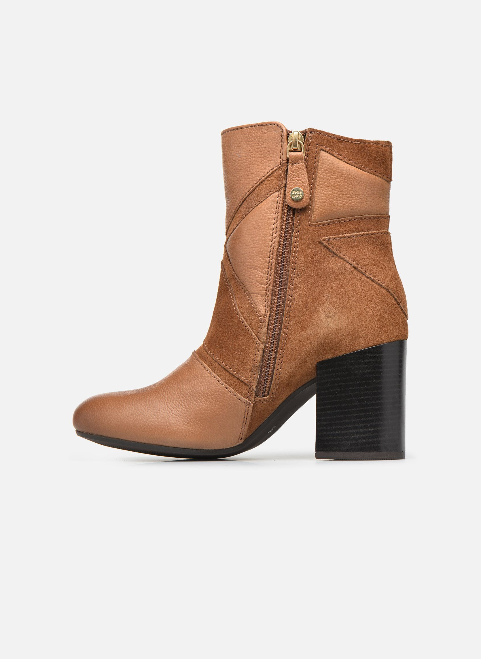 Ankle boots Gioseppo Conway Brown front view