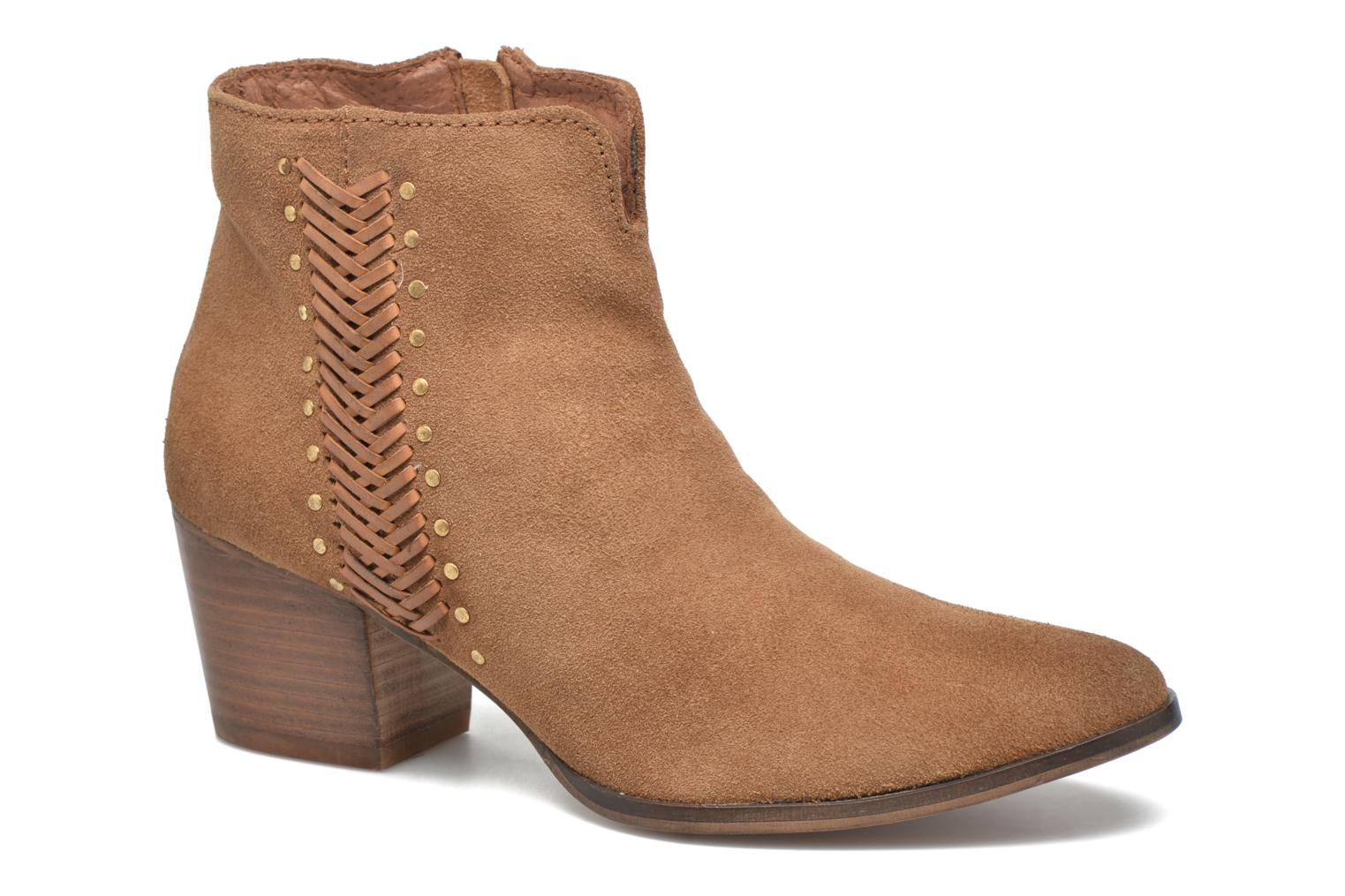 Ankle boots Gioseppo Opelika Brown detailed view/ Pair view