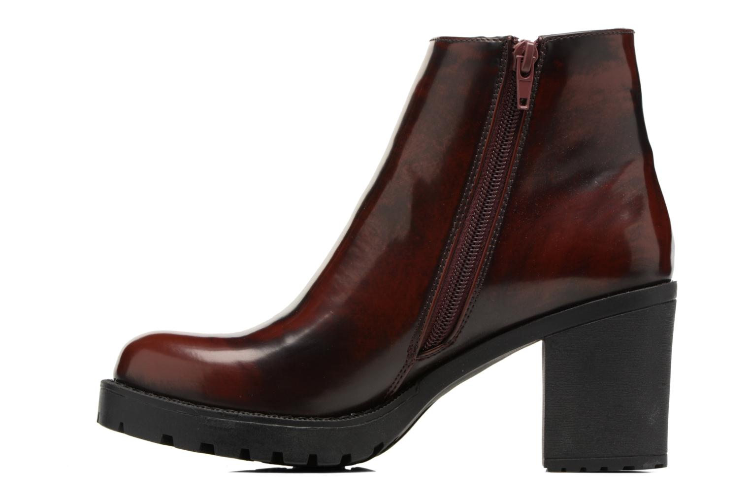 Bottines et boots MTNG Tina Bordeaux vue face