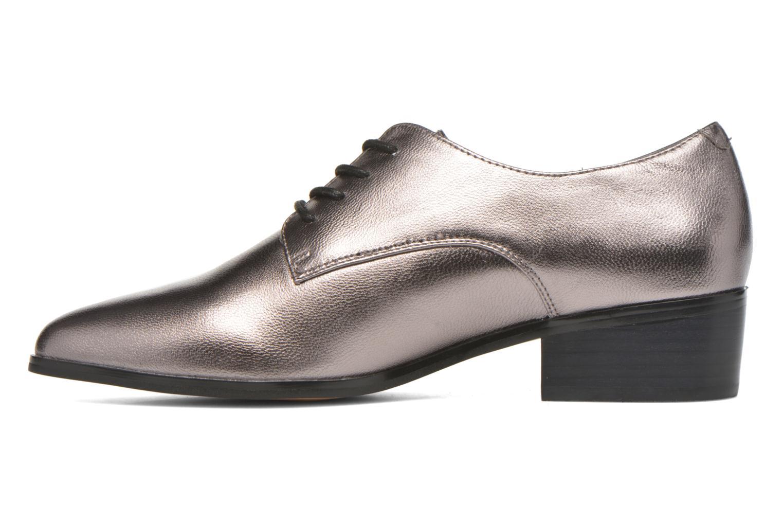 Loris Pewter metallic leather