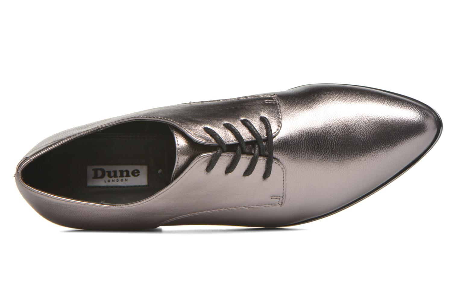 Loris Pewter metallic leather