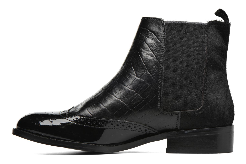 Bottines et boots Dune London Quentin Noir vue face