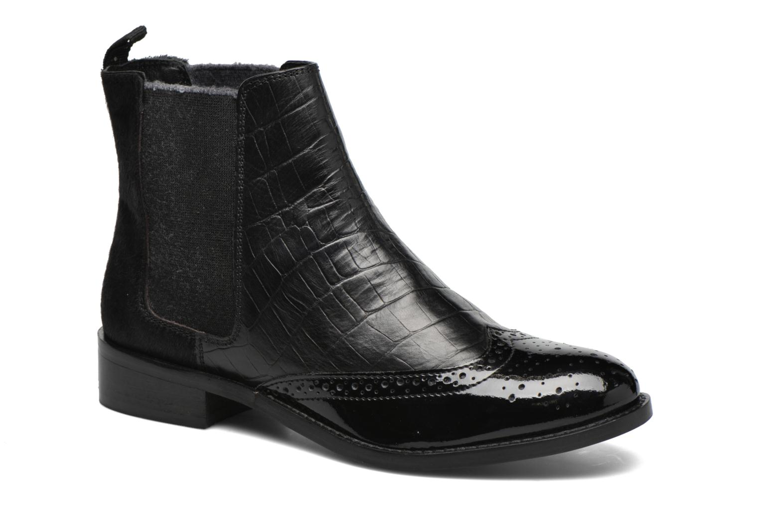 Quentin Black leather mix