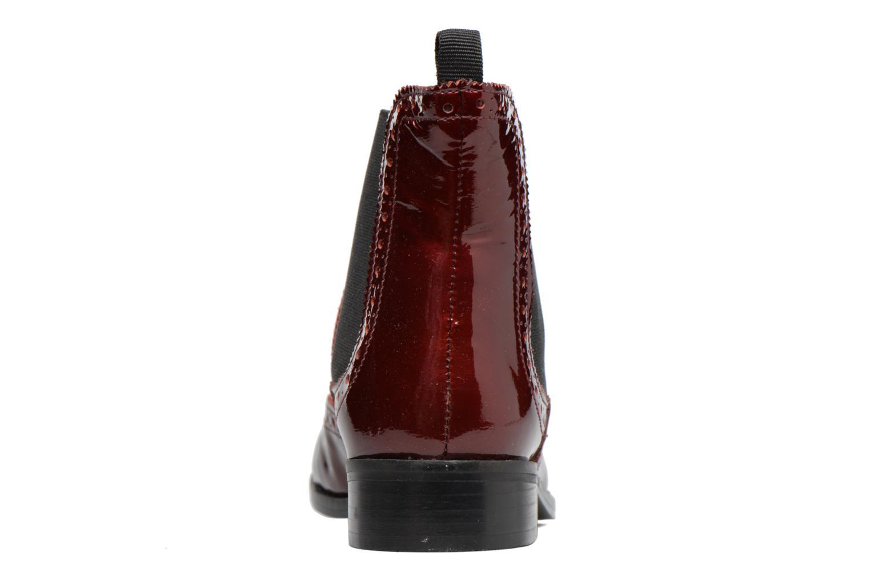 Bottines et boots Dune London Quentin Bordeaux vue droite