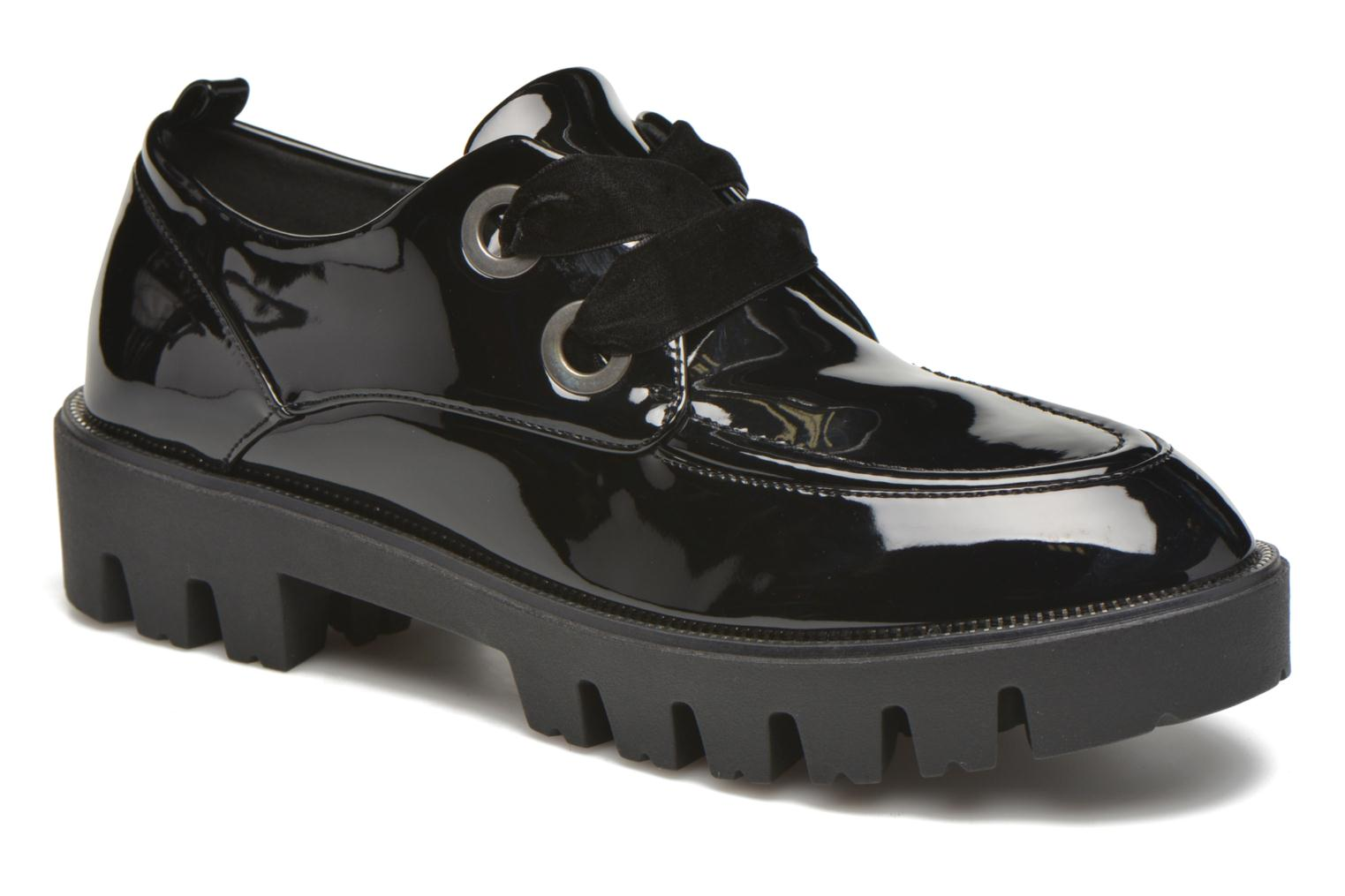 Lace-up shoes Sixty Seven Eugénie Black detailed view/ Pair view