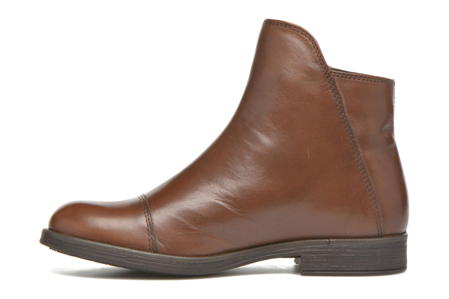 Ankle boots Geox J Agata C J5449C Brown front view