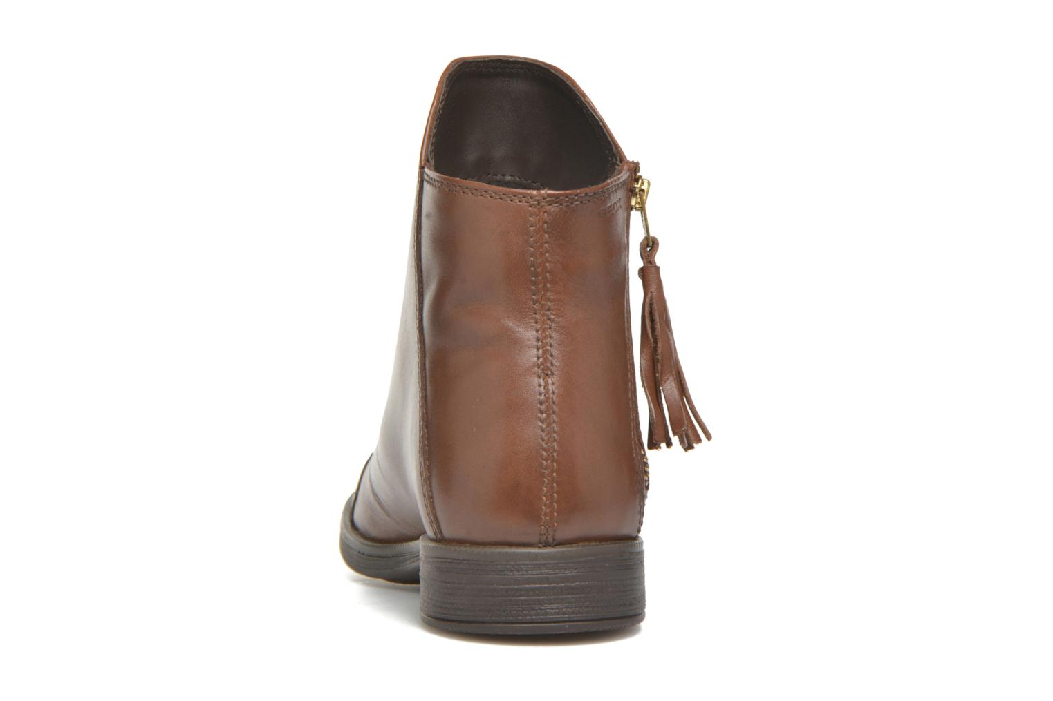 Ankle boots Geox J Agata C J5449C Brown view from the right