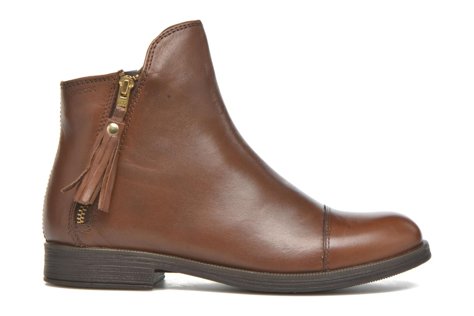 Ankle boots Geox J Agata C J5449C Brown back view