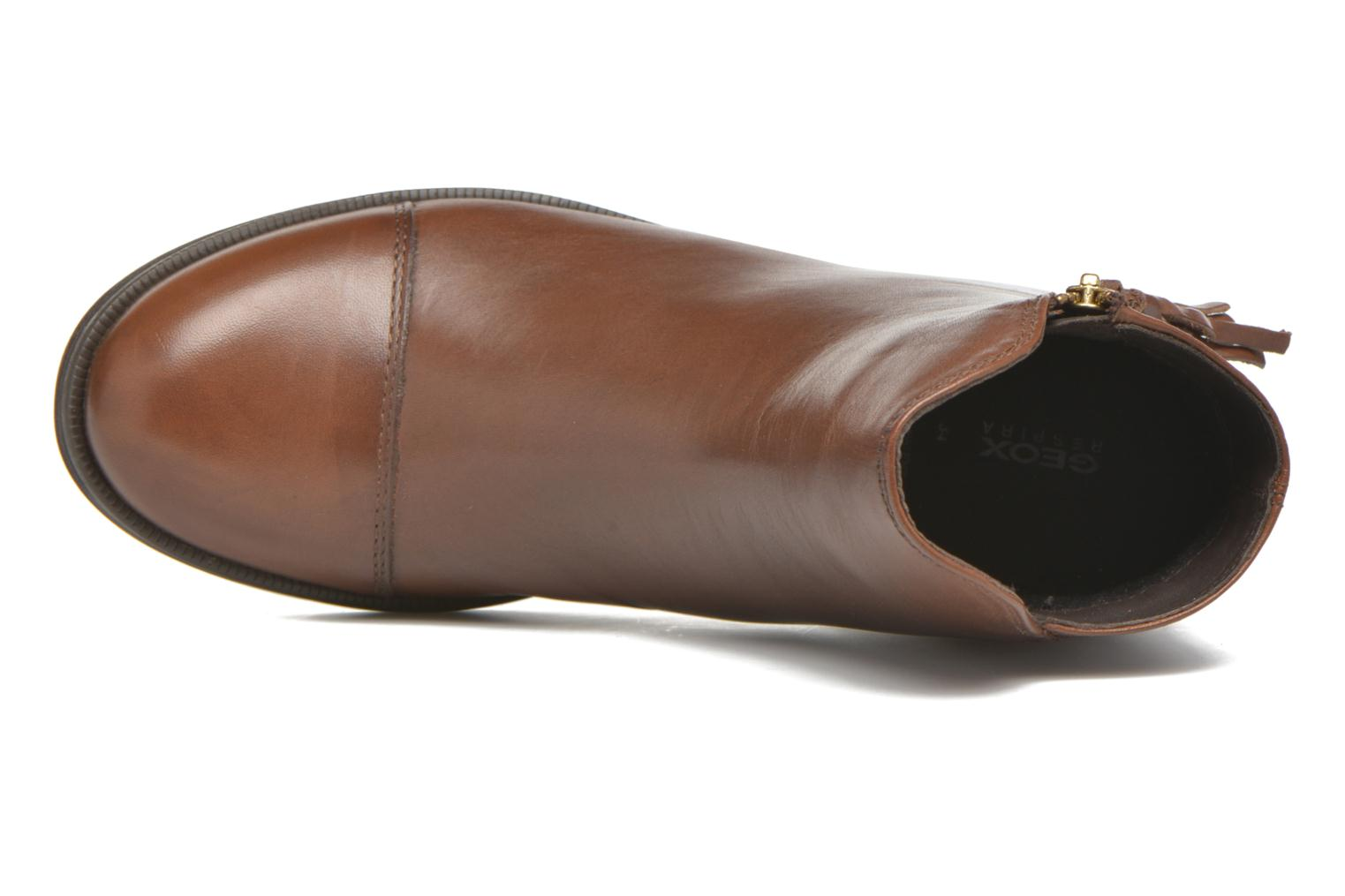 Ankle boots Geox J Agata C J5449C Brown view from the left