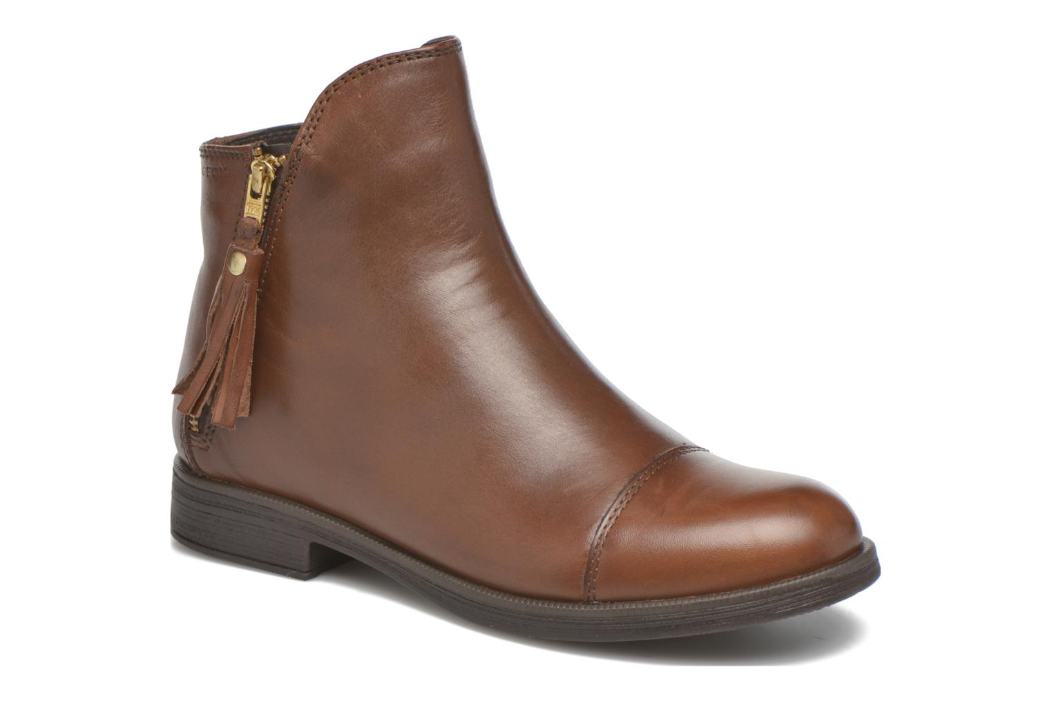 Ankle boots Geox J Agata C J5449C Brown detailed view/ Pair view