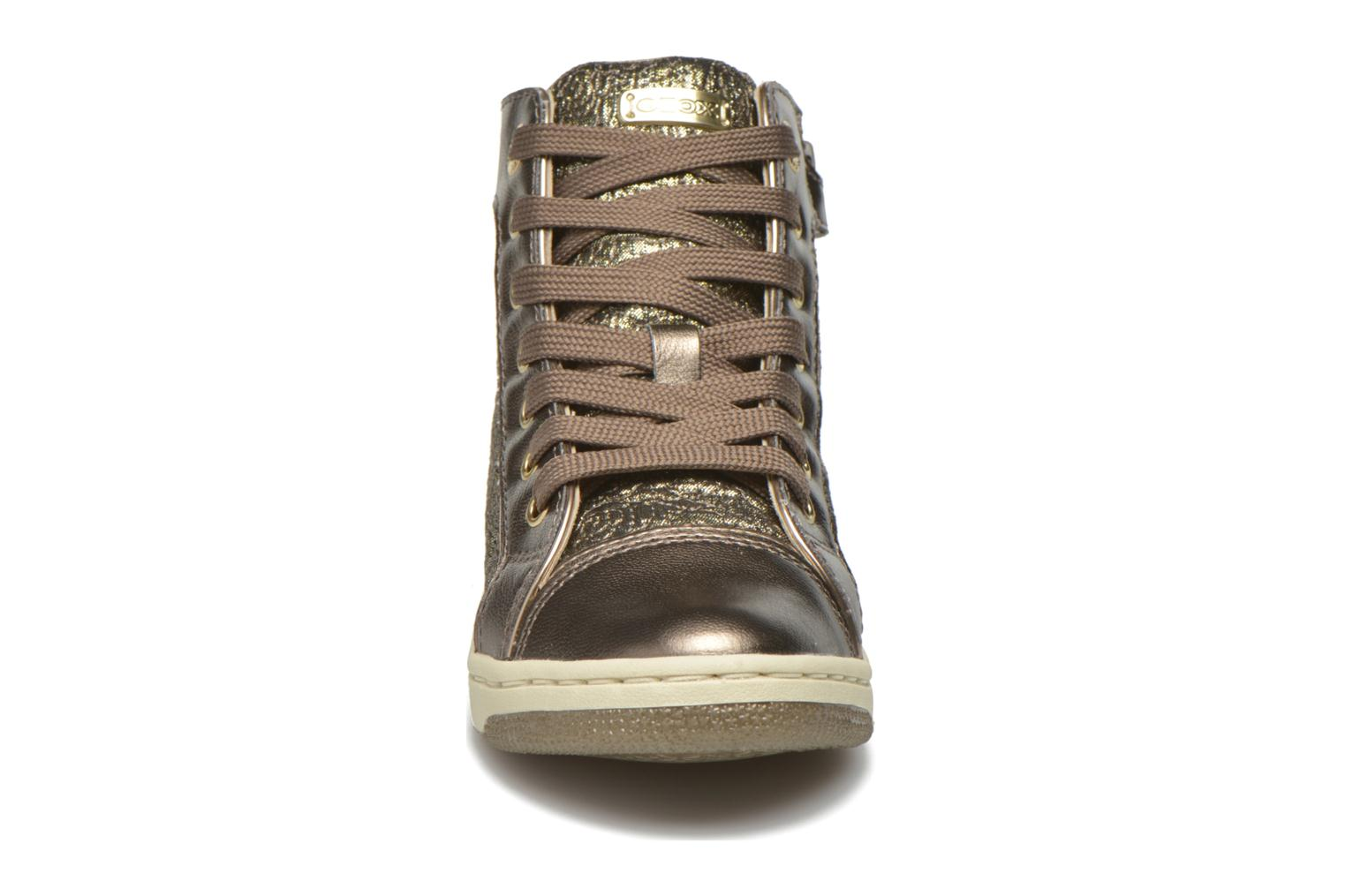 Trainers Geox J Creamy E J62L5E Bronze and Gold model view