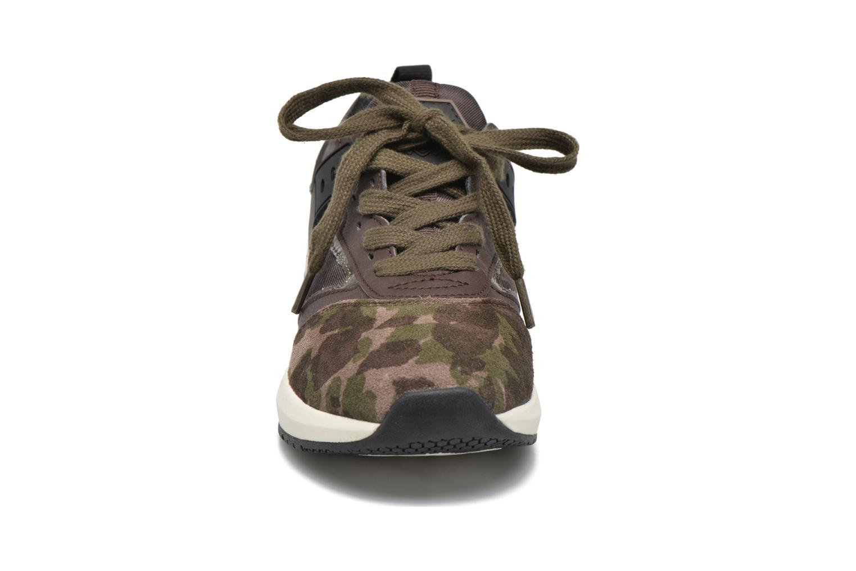 Baskets Geox J Hideaki G.E J641XE Vert vue portées chaussures