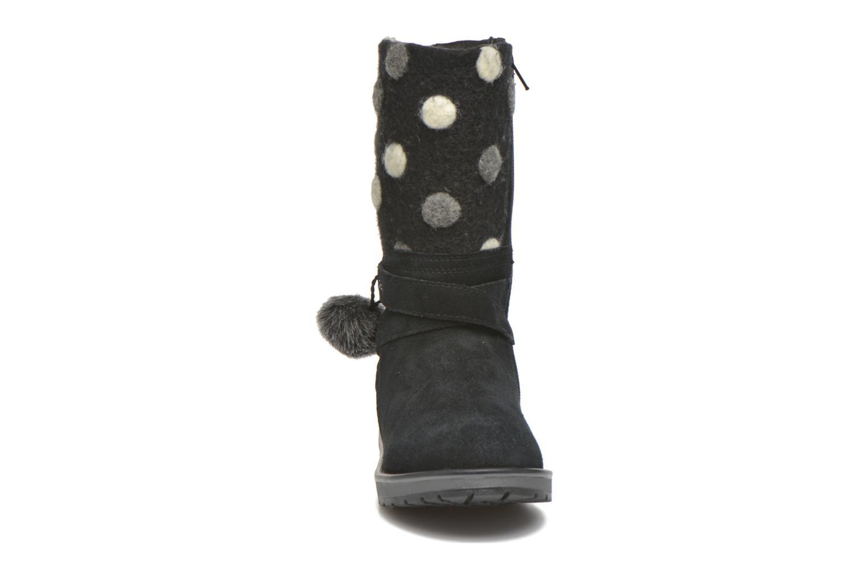Bottes Geox J Noha A J6460A Noir vue portées chaussures