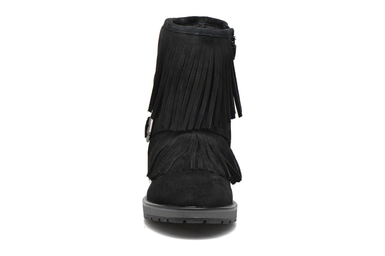 Bottes Geox J Noha C J6460C Noir vue portées chaussures