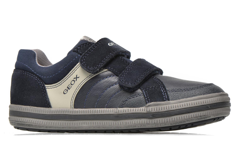Sneaker Geox J Elvis F J64A4F blau ansicht von hinten