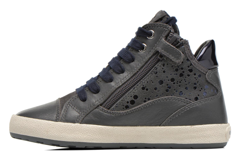 Sneakers Geox J Witty B J64C8B Grigio immagine frontale