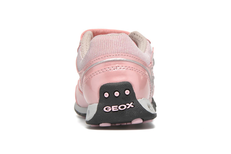 Sneaker Geox J N.Jocker G.A J64G2A rosa ansicht von rechts