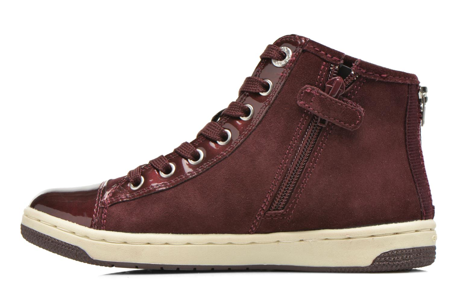 Baskets Geox J Creamy A J64L5A Bordeaux vue face